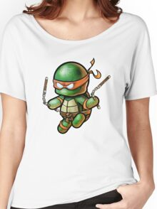 "TMNT -""Mikey"" POOTERBELLY - DIE CUT Women's Relaxed Fit T-Shirt"
