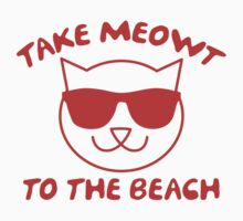 Take Meowt To The Beach One Piece - Short Sleeve