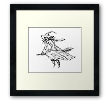 Old witch Framed Print