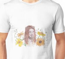 JESUS TWD WATERCOLOUR FLOWER PRINT Unisex T-Shirt
