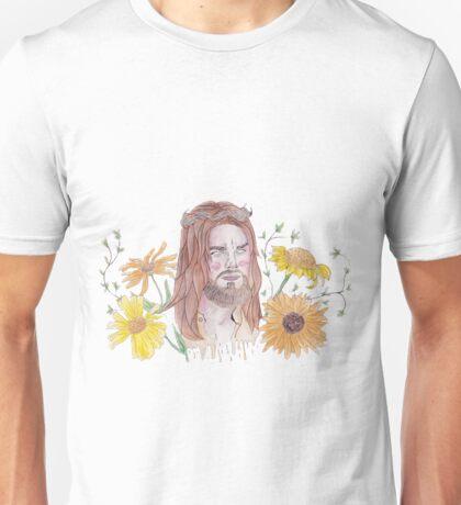 JESUS TWD WATERCOLOUR FLOWER PRINT Unisex T-Shirt