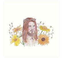 JESUS TWD WATERCOLOUR FLOWER PRINT Art Print