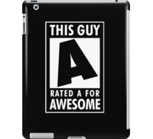 This guy is rated A for awesome iPad Case/Skin