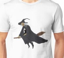 Old witch and hers black cat  Unisex T-Shirt