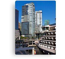 Vancouver City, Canada Place, Canada, 2012. Canvas Print