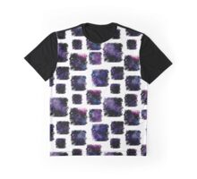 Watercolor Squares and Deep Violet Nebula Graphic T-Shirt