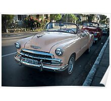 American cars from the 50's in Havana, Cuba Poster