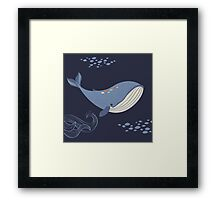Whales of the Sea Framed Print