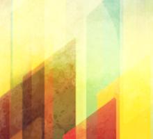 Minimalist Colorful Urban design Sticker