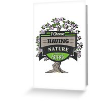 Environmental Awareness Green Earth Nature as Friend Design Greeting Card