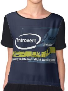 Cool Funny Introverts Unite Party Shirts Chiffon Top