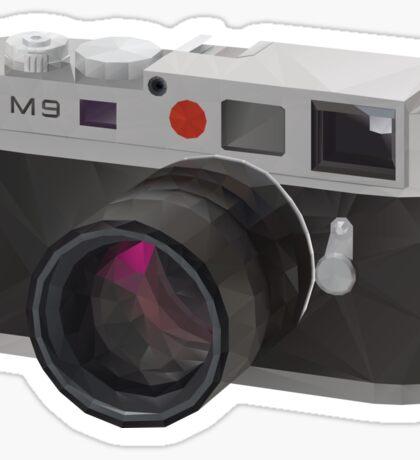Leica M9 Camera polygon art Sticker