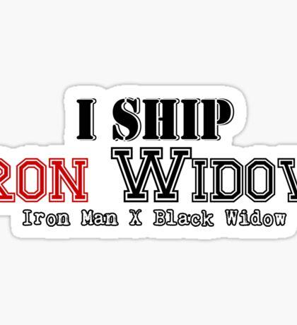 I Ship Iron Widow Sticker