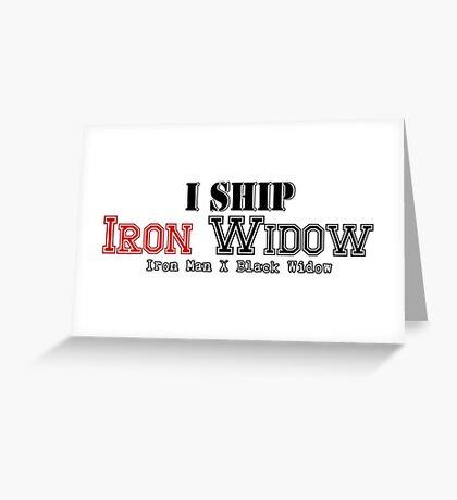I Ship Iron Widow Greeting Card