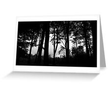 It's in the trees, it's coming.. . Greeting Card