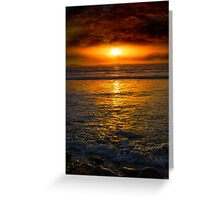 unreal sunset from beal beach Greeting Card