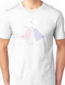 Two Cartoon Love Birds Kissing Unisex T-Shirt