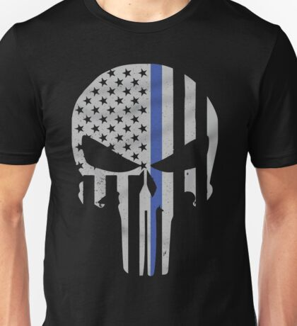 Military Skull [Tactical Flag] Unisex T-Shirt