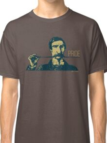 Vintage Hipster Long Mustache Pride  Classic T-Shirt