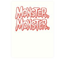 Monster Monster Art Print