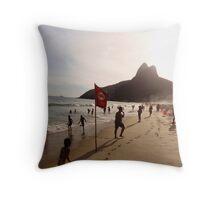 Ipanema beach, Rio de Janeiro Throw Pillow