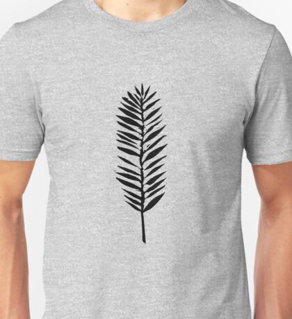 Palm leaves, Nature lover, Linocut pattern Unisex T-Shirt