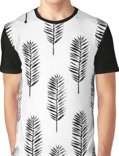 Palm leaves, Nature lover, Linocut pattern Graphic T-Shirt