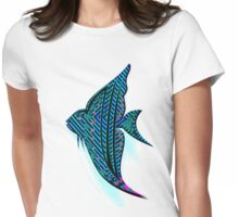 PSYCHEDELIC ANGELFISH 112 CLEAR BK/G Womens Fitted T-Shirt