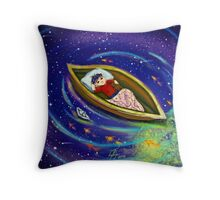 Boy and his boat 2 Throw Pillow
