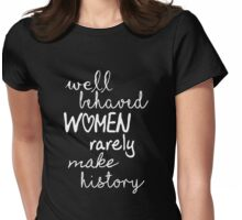 Marilyn Monroe Strong Women Quote Womens Fitted T-Shirt