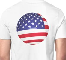 American Flag, Ball, Globe, Sphere, Stars & Stripes, Pure & Simple, America, USA, on white Unisex T-Shirt