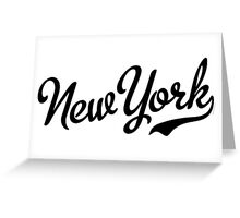 New York Script Black Greeting Card
