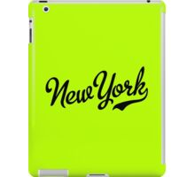 New York Script Black iPad Case/Skin