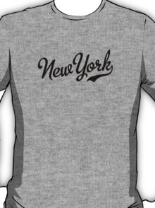 New York Script Black T-Shirt
