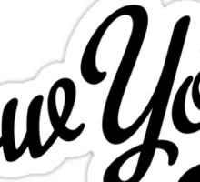 New York Script Black Sticker