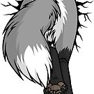 Sticker - STUCK Grey Fox BACK by tanidareal
