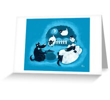 Counting Sheep Greeting Card