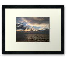 Sunset at Marissa Beach Framed Print