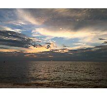 Sunset at Marissa Beach Photographic Print