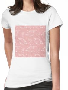 Retro pattern with fennel flowers Womens Fitted T-Shirt