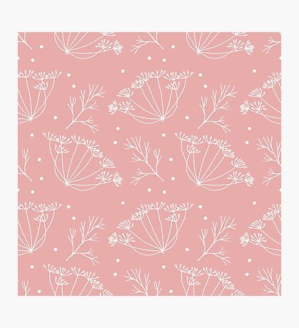 Retro pattern with fennel flowers Photographic Print