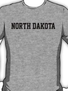 North Dakota Jersey Black T-Shirt