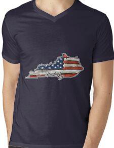 Kentucky State Outline Mens V-Neck T-Shirt
