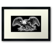 War Eagle, USA, America, American, Library of Congress, on black Framed Print