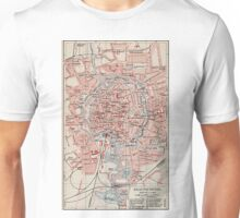 Vintage Map of Braunschweig Germany (1905) Unisex T-Shirt