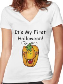 It's My First Halloween Women's Fitted V-Neck T-Shirt