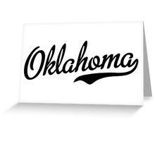 Oklahoma Script Black Greeting Card