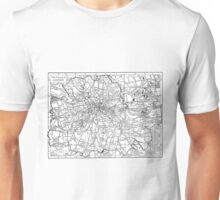 Vintage Map of London England (1911) Unisex T-Shirt