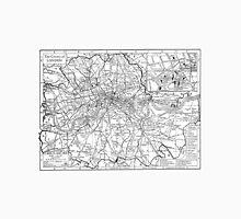 Vintage Map of London England (1911) Unisex T-Shirt