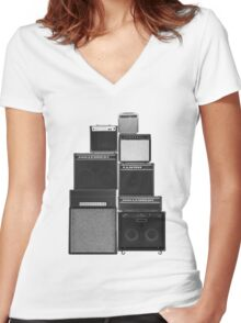 Great Wall of LOUD Women's Fitted V-Neck T-Shirt